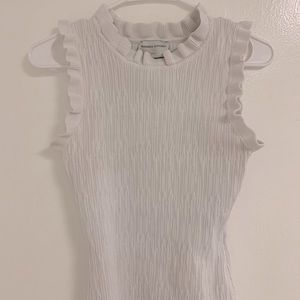 Modern Citizen tank with ruffles neck and sleeve